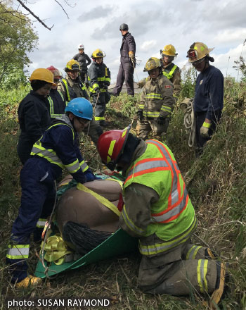 first responders from Fire, Police and EMS, learning invaluable lessons