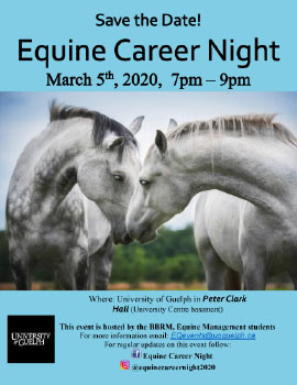Equine Career Night poster
