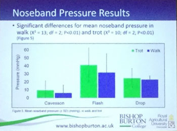 noseband design research results graph