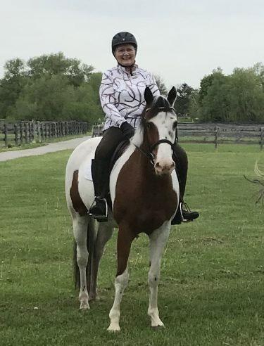 Sheryl Kerr on her horse
