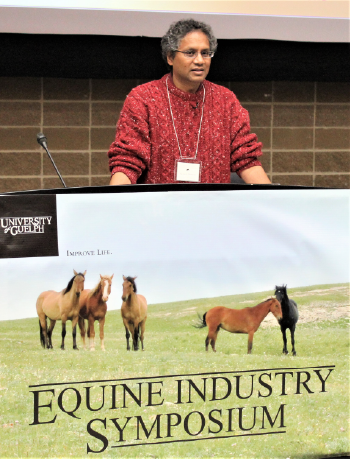 Akaash Maharaj, facilitator for the 4th annual Equine Industry Symposium