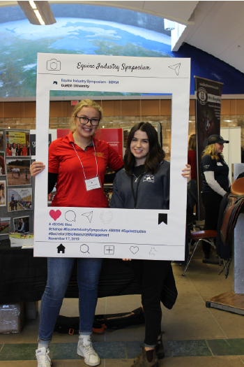 Equine Management students Camryn MacNeil and Renée D'Angelo