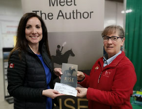 Julie Fitz-Gerald donated a portion of her book sales to EquiMania!