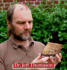 Dr. Jeff Thomason with hoof