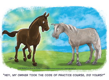 cartoon, horses talking