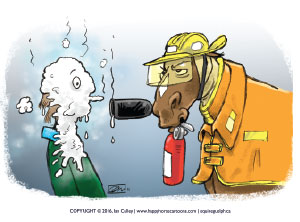 fire safety cartoon